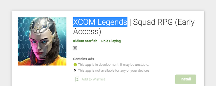 There's a new XCOM game coming to mobile, and it's already in testing