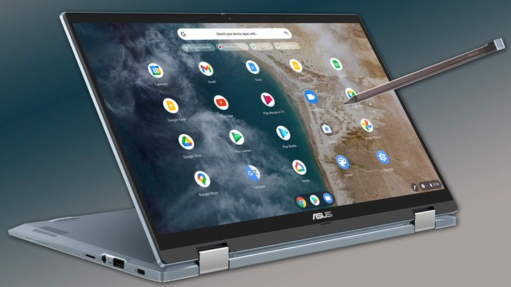 The new Asus high-end Chromebook Flip CX5400 has a pretty cute metal chassis