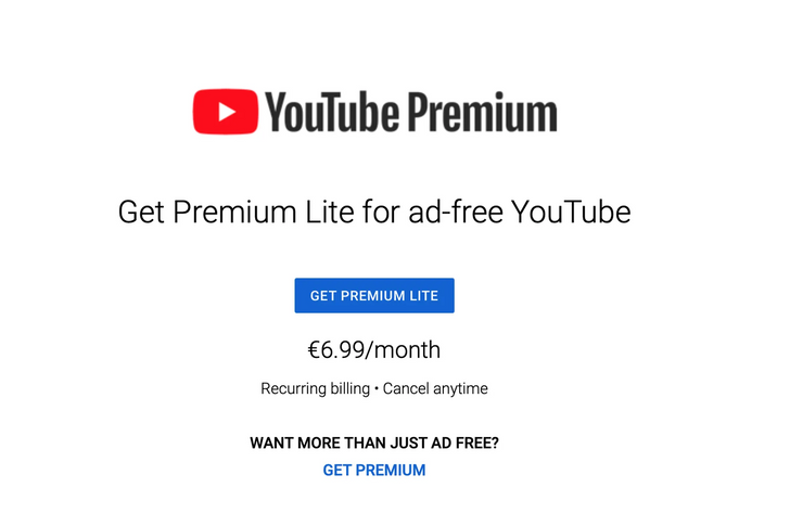 YouTube is testing a cheaper 'Premium Lite' subscription with the only feature that matters