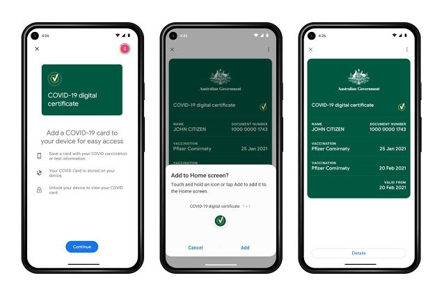 Google Pay gets Aussies ready for digital vaccine cards