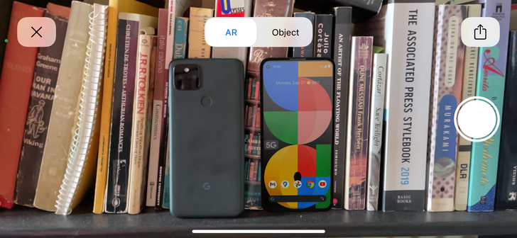 Try the Google Store's new AR demo to see if the Pixel 5a is too big for you
