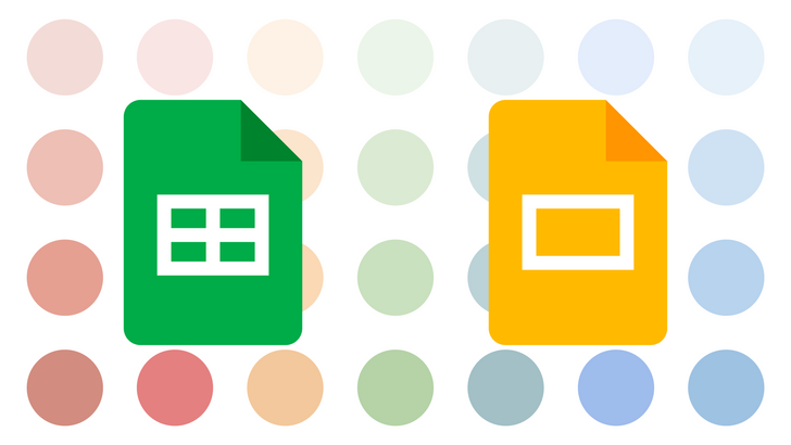 Now it's easier to add a splash of color to Google Sheets and Slides