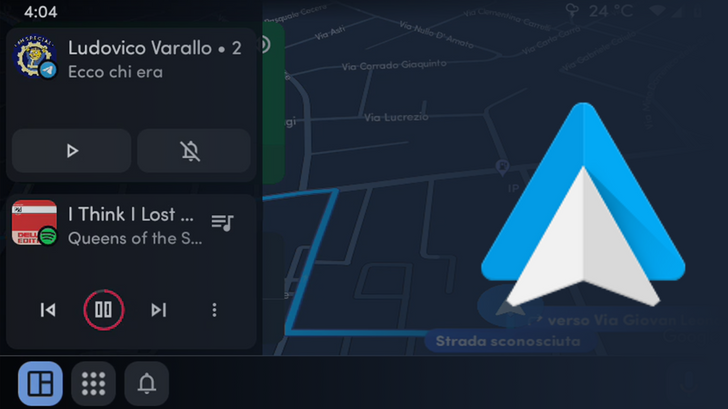 Android Auto may get multitasking on the navigation screen, and somebody will surely complain